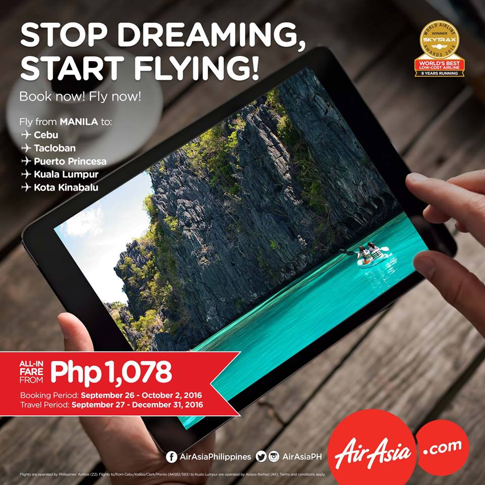 Stop Dreaming!Start Flying!with Air Asia Promo!